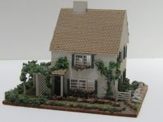 Dollhouse Miniature Pat Russo Seaside Cottage Signed and Dated 1997.