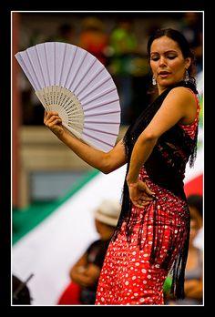 Flamenco dancer- spanish abanico