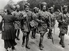 Sikh soldiers arrive in Europe to fight for the allies in WWI