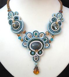 Combining soutache and bead weaving - cool!