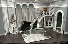 The Little Foxes. Model. Cleveland Playhouse. Scenic design by Lex Liang.