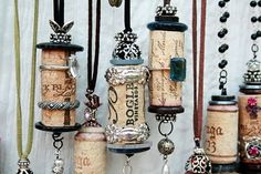 wine corks for bookmarks, jewelry, ???