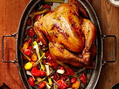 Try this for potluck // Herb-Roasted Chicken Recipe : Food Network Kitchen : Food Network - FoodNetwork.com