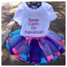 Keep Calm I'm Fabulous Pink Blue and Purple by InspiredFlair, $73.00
