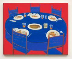 "Nicole Eisenman, ""Pancake Dinner"", 2007, Oil on canvas, 23 �"" x 29 �"""