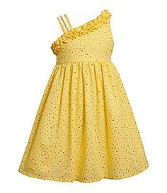 yellow dress dillards young