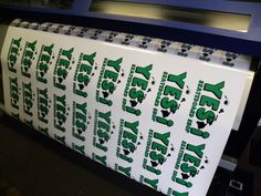 Use our stickers indoor or out!  We use premium vinyl for ALL of our digital printed applications..