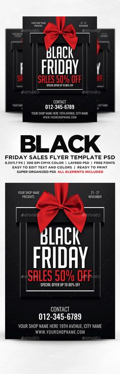 Black Friday Sale Flyer Template | Flyer Template, Psd Templates