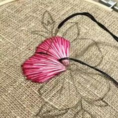Etsy Embroidery, Basic Embroidery Stitches, Hand Embroidery Art, Hand Embroidery Videos, Creative Embroidery, Simple Embroidery, Embroidery Fonts, Hand Embroidery Patterns Flowers, Ribbon Embroidery Tutorial