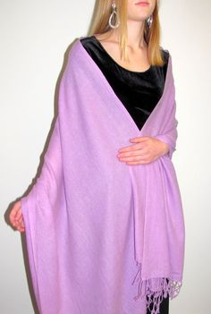A lovely color plush 3 ply soft cashmere shawl wrap - a great women's gift idea. Watch her smile!