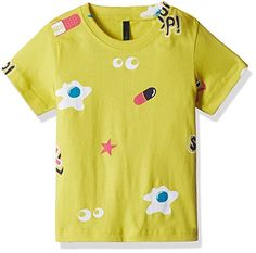United Colors Of Benetton Baby Boys' T-Shirt (16A3P94C030SIK241Y_Lime Yellow)
