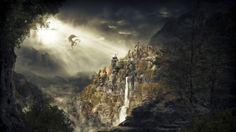 This HD wallpaper is about The Elder Scrolls V: Skyrim, fantasy art, dragon, landscape, Original wallpaper dimensions is file size is Elder Scrolls V Skyrim, The Elder Scrolls, Elder Scrolls Online, Fantasy Landscape, Fantasy Art, Fantasy Life, Dark Fantasy, Skyrim Concept Art, Skyrim Wallpaper