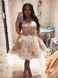 homecoming dresses, short pink prom dresses, ball gown dresses, cheap a-line fashion dresses. Dresses Short, Dresses For Teens, Sexy Dresses, Formal Dresses, Pink Dress, Lace Dress, Pink Tulle, Lace Homecoming Dresses, Prom Gowns