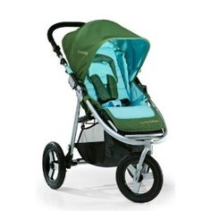 Bumbleride Indie is an all-terrain lightweight stroller which doubles as a city jogging stroller.  It reclines flat for newborns, or you can attach a pumpkin seat.