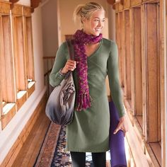 Athleta Sunburst Organic Cotton Nectar Dress Tortoise Green
