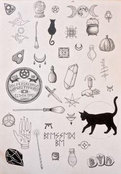 Black cat tattoo design ideas 41 halloween tattoos Black Cat Tattoo Design Ideas - We Otomotive Info Tattoo Drawings, Body Art Tattoos, New Tattoos, Small Tattoos, Tattoo Cat, Print Tattoos, Tatoos, Tattoo Moon, Flash Tattoos
