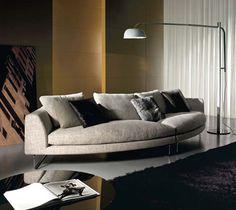Add Look Round #sofa | #ResourceFurniture Sofa Design, Interior Design, Resource Furniture, Round Sofa, Curved Sofa, European Furniture, Modular Sofa, Furniture Outlet, Decorative Cushions