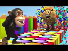 Learn fruits and Animals with funny Monkey style PC games | Educational Videos for Kids - YouTube