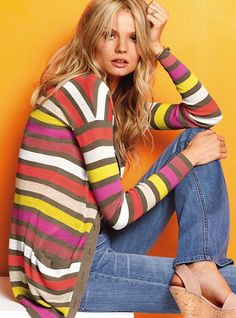 Striped Cardigan from Victoria's Secret - easy to wear!