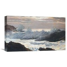 Global Gallery 'Early Morning After a Storm on the Sea' by Winslow Homer Painting Print on Wrapped Canvas Size: 1