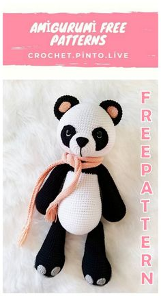 Welcome to our website where you can find the most beautiful and highest quality samples of Amigurumi patterns. Crochet Sloth, Crochet Panda, Crochet Dinosaur, Crochet Elephant Pattern, Crochet Amigurumi Free Patterns, Free Crochet, Cute Panda, Stuffed Animal Patterns, Pokemon