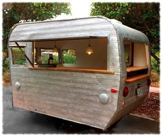The caterer will serve beer out of this mini airstream trailer