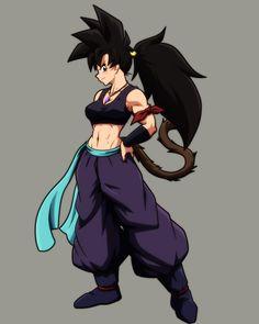 Oc Manga, Manga Anime, Cute Anime Character, Character Art, Character Design, Female Goku, Female Super Saiyan, Du Dudu E Edu, Dbz Memes
