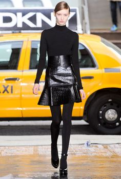 New York Fashion Week Fall 2012 Trend Report - DKNY - epitome of NY. Sleek, chic and modern with a feminine flair.