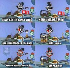Libertadores os 4 tem, agora mundial só o Parmeiras q ñ tem!!!