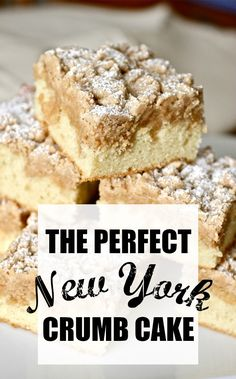 Your search for the perfect New York-style crumb cake is over. With big crumbs and soft buttery cake this crumb cake will be an instant family favorite. The post New York Crumb Cake appeared first on Win Dessert. Baking Recipes, Cake Recipes, Dessert Recipes, Dessert Blog, New York Crumb Cake Recipe, Homemade Crumb Cake Recipe, 8x8 Cake Recipe, Crumb Recipe, Food Cakes