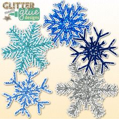 Winter Glitter Snowflakes Clipart #winter #clipart #snowflake #tpt #teacherspayteachers #education