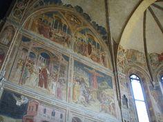 Chiesa degli eremitani, abside, affreschi storie dei santi filippo e agostino  - Guariento di Arpo -PADOVA