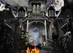 Haunted Mansion mansion animated house gif halloween haunted