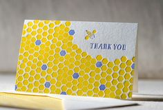 Letterpress Note Cards Honeycomb. Bamboo paper by smockpaper, $16.00