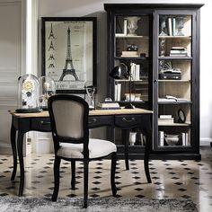 bureau - noir et blanc - classique - cabochons - Maisons du monde / working place - black and white