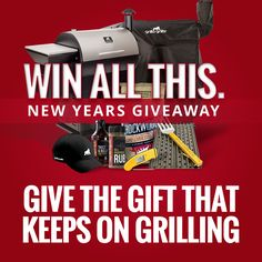WIN a Grilla Grills Pellet Smoker or Kamado Grill (plus a lot more)! 3 Chances to WIN our #NewYearsGiveaway. Details at www.grillagrills.com/new-year #Contest #Win #FREE #Grill #Smoker #Gear Thermapen, GrillGrate