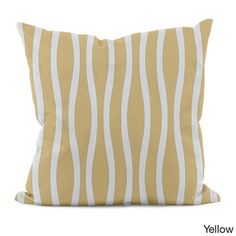 20 x 20-inch Curvy Stripe Decorative Throw Pillow - Overstock™ Shopping - The Best Prices on Throw Pillows