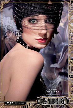 "Jordan Baker represents one of the ""new women"" of the boyish, and self-centered. Watch Elizabeth Debicki bring to life the character of Jordan Baker in the upcoming movie 'Great Gatsby'. The Great Gatsby Characters, The Great Gatsby Movie, Great Gatsby Theme, Great Gatsby Fashion, 20s Fashion, 1920 Theme, Flapper Fashion, Fashion Mode, Fashion 2018"