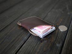 Mens Leather Wallet /Leather Card Holder/Slim Card Holder/Custom Case/Handmade Wallet/Personalized Wallet/Best Gift For Him