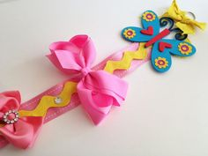 Butterfly Hair Bow Holder by LilTotWonder on Etsy, $12.25