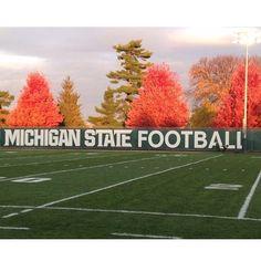 Spartan Football in the fall. #msufootball #spartans #Padgram