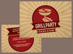 Partyeinladung Barbecue Templates, Grill Party, Stencils, Template, Patterns