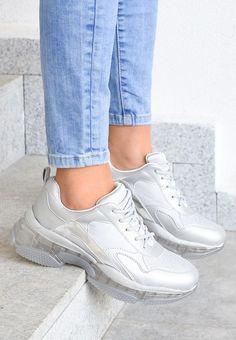 Sneakers dama Gorin Argintii