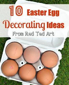 "10 delightful Easter Egg Decorating ideas from Red Ted Art - all ""tried and tested""!"