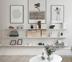 Home deco white shelves Home Living Room, Living Room Decor, Living Spaces, Shelf Ideas For Living Room, Nordic Living Room, Decoration Inspiration, Interior Inspiration, Decor Ideas, Room Ideas