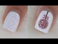10 Easy Christmas Nail Art Ideas - YouTube