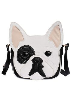 ROMWE | Dog Head Shaped White Bag, The Latest Street Fashion