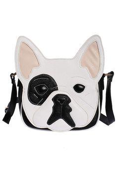 ROMWE | Dog Head Shaped White Bag, The Latest Street Fashion