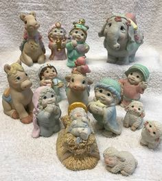 14pc DREAMSCICLES Nativity Set 1995 Christmas CAST Ind KRISTIN signature MEXICO  | eBay