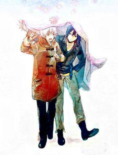 Day 8: favorite anime couple? Nezushi~! Shizu Nezumi X Shion :33